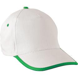 - 0110-04 Beyaz - Yeşil Mavi Şapka