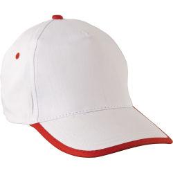 - 0110-11 Beyaz - Kırmızı Şapka
