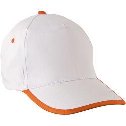 - 0110-13 Beyaz - Turuncu Mavi Şapka