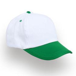 - 0140-04 Beyaz - Yeşil Şapka