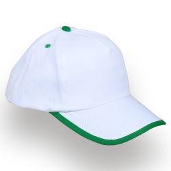 - 0150-04 Beyaz - Yeşil Şapka