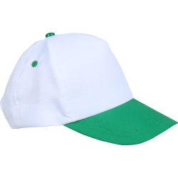 - 0201-04 Beyaz - Yeşil Şapka