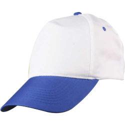 - 0302 Beyaz - Saks Mavi Siperli Şapka