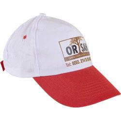 - 0302 Beyaz Şapka - Kırmızı Siperli