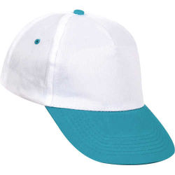 - 0302 Beyaz - Turkuaz Siperli Şapka