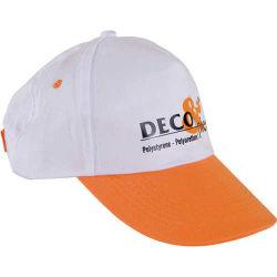 - 0302 Beyaz - Turuncu Siperli Şapka