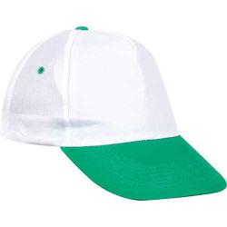 - 0302 Beyaz - Yeşil Siperli Şapka