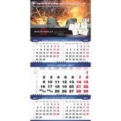 - 14-BAUPG Beş Aylık 3 Parça Gemici Takvim