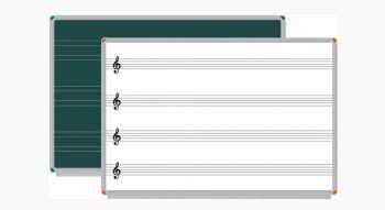 - - Müzik Çizgili ve Güzel Yazı Tahtası / Dijital Baskılı